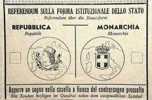 scheda referendum repubblica monarchia
