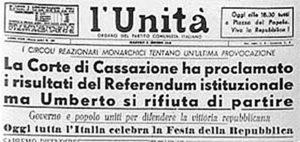 L'Unità - referendum repubblica monarchia