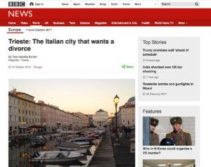 BBC sito Trieste indipendentismo