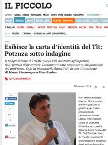 Vito Potenza su Il Piccolo di Trieste