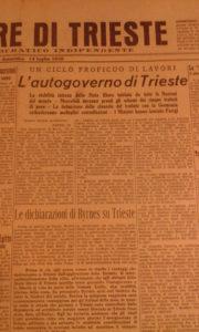 dichiarazioni di Byrnes su Trieste