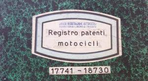 Registro patenti motocicli TLT