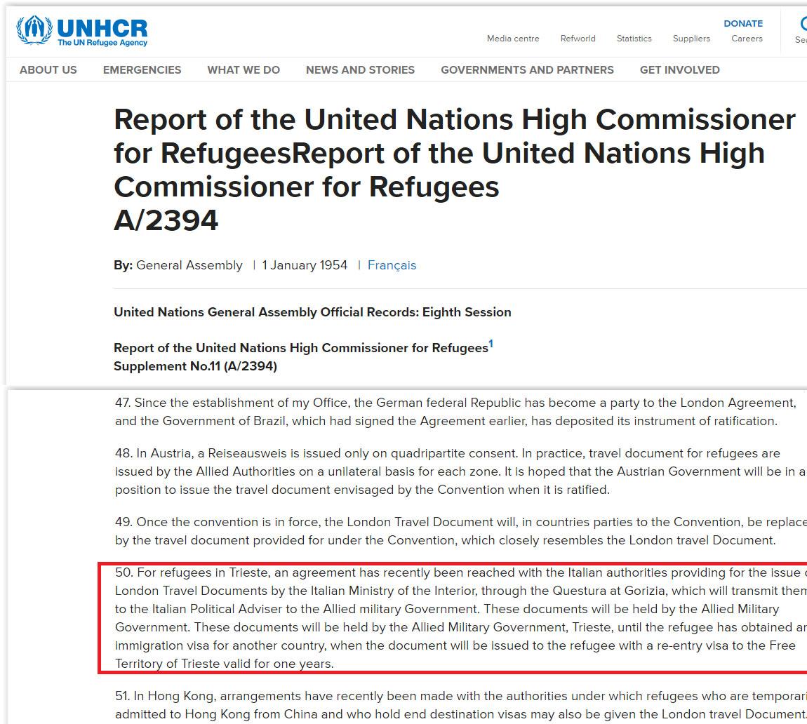 Nazioni Unite rifugiati nel TLT