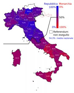 cartina referendum repubblica monarchia