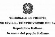 sentenza Magistratura italiana PAP Alessandro Ferluga