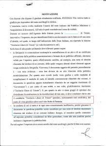 sentenza carta identità tlt Vito Potenza