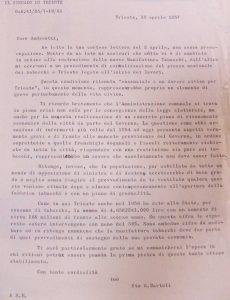 lettera Bartoli - Andreotti