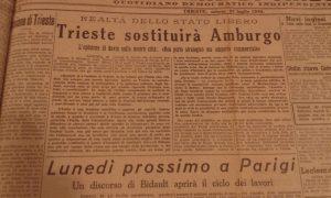 Trieste sostituirà Amburgo